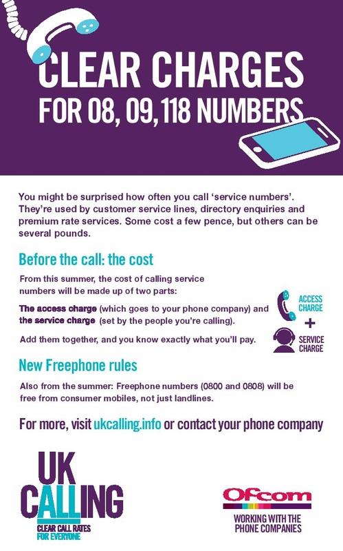 UK calling info